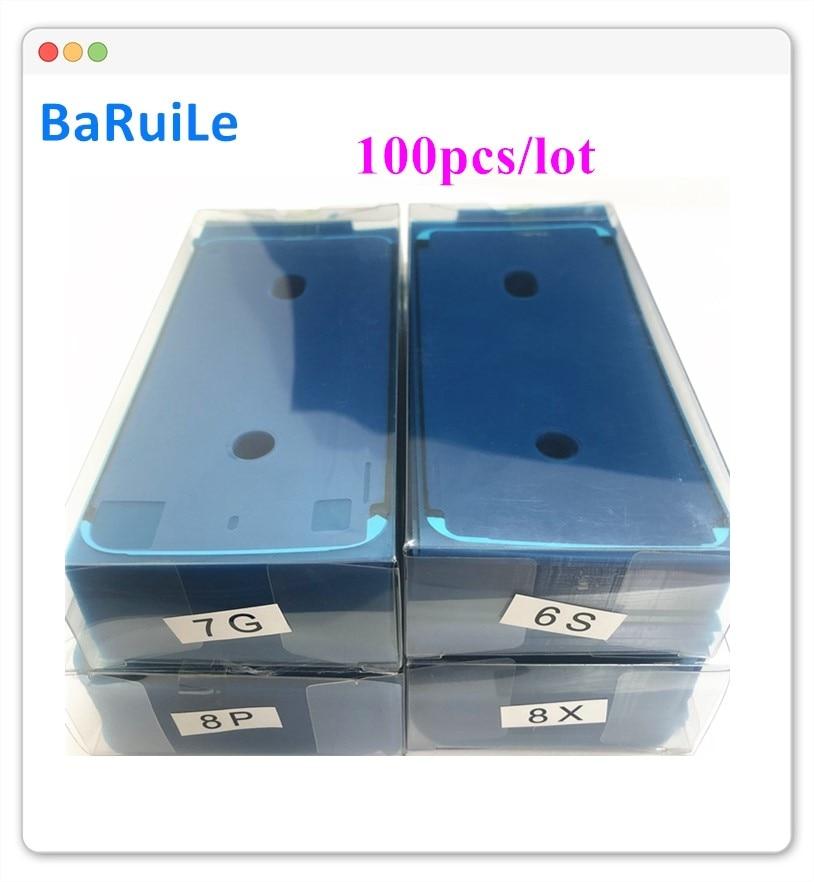 BaRuiLe 100pcs Waterproof 3M Adhesive for iPhone 6S 7 8 Plus X 8P XS Max XR 11 XSM Sticker LCD Screen Frame Tape Repair Parts Phone Sticker & Back Flim    -