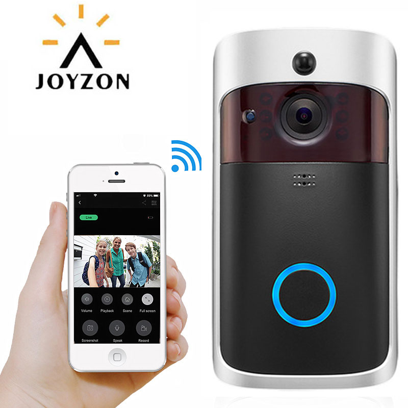 Smart WiFi Video Doorbell Camera Visual Intercom Gateway Night Vision Video Door Phone Bell  IR Alarm Wireless Security Camera