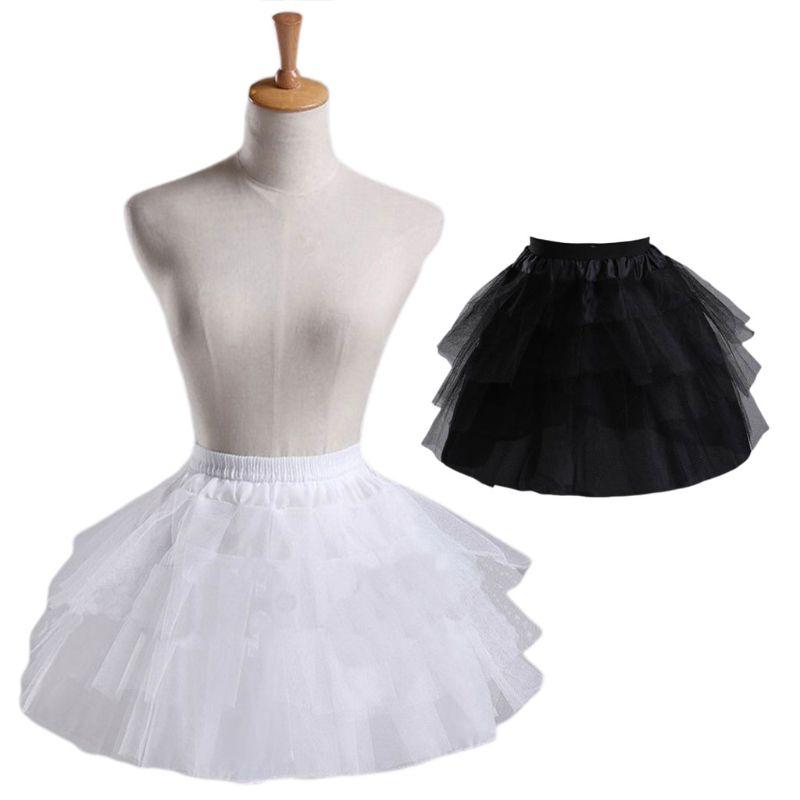Cosplay Maid Wear Lolita Pettiskirt Short No Hoops Petticoat Girls Ballet Mesh Yarn Skirt Petticoats
