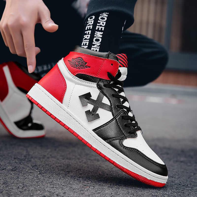 2019 erkek AJ 1 basketbol ayakkabıları renkler kapalı beyaz kırmızı All-Star JD 1 kuvvetleri eğitmenler spor hakiki deri sneakers