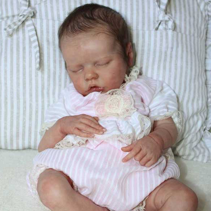 Rbg kit renascer bebê reborn boneca de vinil kit 17 polegadas twin b unpainted inacabado peças boneca diy em branco reborn boneca kit