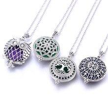 Новинка, винтажное ожерелье для ароматерапии, Серебряный цветок, бабочка, эфирное масло, диффузор, ожерелье, медальоны для парфюма, подвески