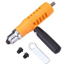 Electric Rivet Nut Gun Riveting Tool Set Insert Nuts Riveter Drill Adapter Kit No Skidding and Quick