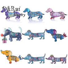 Clearance Dachshund Dog Pin Brooch High Quality Funny Trendy Cute Animal Pet Pins Brooches Jewelry for Kids Women Coat Gifts