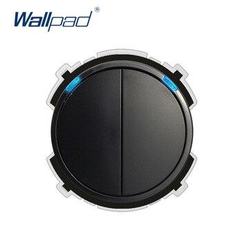 Wallpad 2 Gang 2 Way interruptor de luz de pared LED indicador función clave sólo Combinación libre