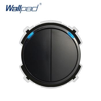 Wallpad 2 Gang 2-drożny przełącznik ścienny wskaźnik LED przycisk funkcyjny tylko dowolna kombinacja tanie i dobre opinie 2 gang 2 way White Black Function Keys 66 5*66 5mm Fire Retardant PC 4000W 110-250V Soft LED Indicator Random Click Button
