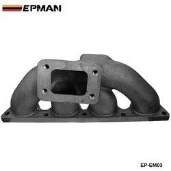 T3 Cast Iron Turbo Exhaust Manifold Header For Honda CRX 92-00 B16 B18B Series EP-EM03