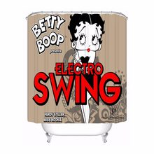 Custom Betty Boop Waterproof Shower Curtain Home Bath Bathroom s Hooks Polyester Fabric Multi Sizes#0421-sohu-10(China)