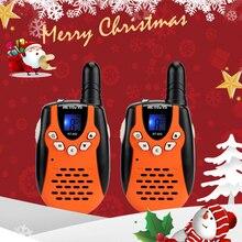 Chape RT602 talkie walkie enfants Rechargeable 2 pièces PMR446 FRS 0.5W enfants jouet bidirectionnel Radio lampe de poche Festival cadeau de noël
