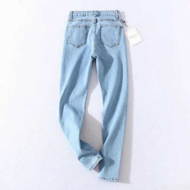 Four Buttons High Waist Pencil Jeans  4