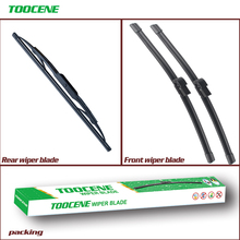Front and Rear Wiper Blades For Audi A4 B6 2000 -2003 Rubber Windscreen Wipers Auto Car Accessories22+22+13 cheap toocene natural rubber 2001 2002 0 3kg clean the windshield TC212 Ningbo China