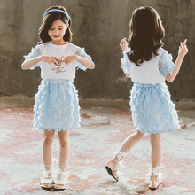 baby girl kids clothes set cute short 2020 new summer clothing sleeve t-shirt top skirt sets outfits for teenage girls789 10year spring autumn 3 12y girl suit set long sleeve top skirt girls clothing set cute owl costume for kids teenage clothes