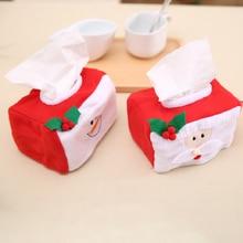 Рождество Санта Клаус Снеговик тканевая коробка крышка рождественские украшения для домашнего стола Noel год украшение Navidad
