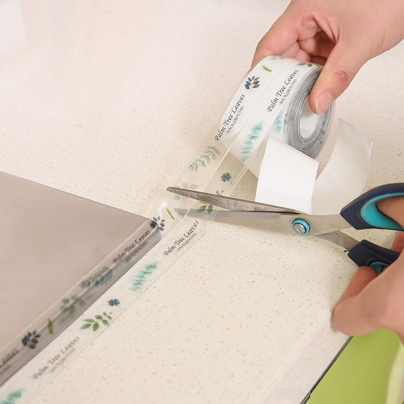 0.38*3M Kitchen Sink Waterproof Mildew Strong Self adhesive Transparent Cartoon nano magic tape Bathroom Toilet Crevice Strip|Tape|   - title=