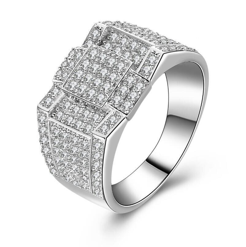 Bague de fiançailles homme argent sterling 925 bijoux saint valentin mari