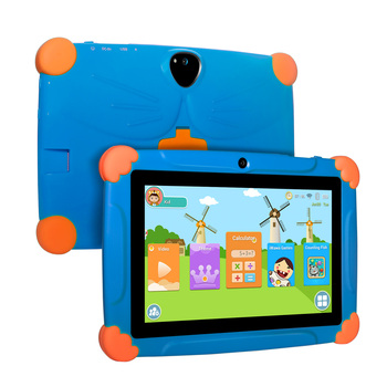 Android 8.1 Tablet for Kids French Touch 7inch HD Pad with Silicone Case USB charge Quad Core 1GB 16GB