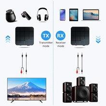 KN321 AUX Bluetooth 5.0 Audio récepteur émetteur adaptateur pour voiture TV PC haut-parleur USB stéréo musique sans fil adaptateur
