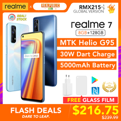 realme 7 8GB RAM 128GB ROM Global Version 30W Dart Charge 48MP Quad Camera 90Hz Display Helio G95 Gaming CPU 5000mAh Battery New