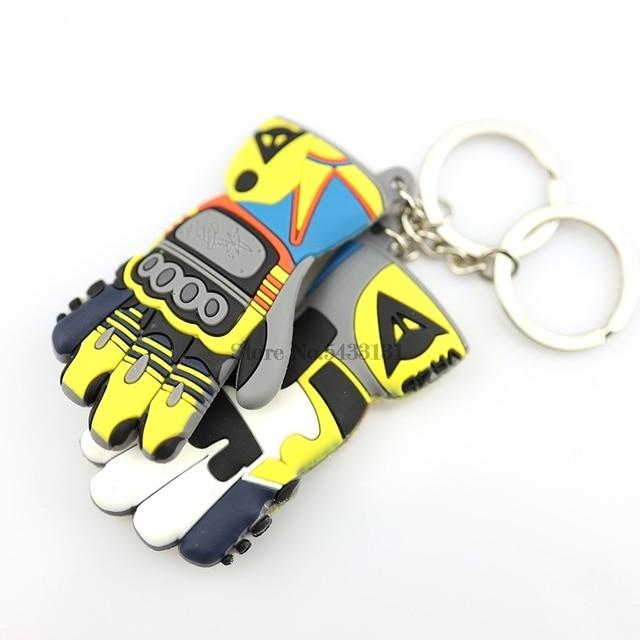 Guantes de moto rcycle guantes de moto rcycle llavero para Valentino Rossi guantes tácticos impermeables fundas de guantes de moto rcycle