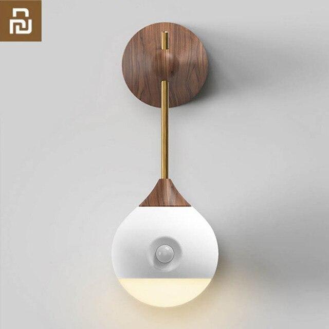 Original youpin sothing ensolarado inteligente sensor de luz da noite indução infravermelha carregamento usb lâmpada magnética removível casa inteligente h30