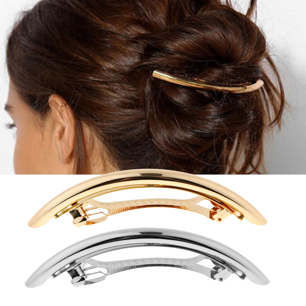 2pcs Simple Large Hair Barrettes Hair Pins Exquisite Hair Clips For Women