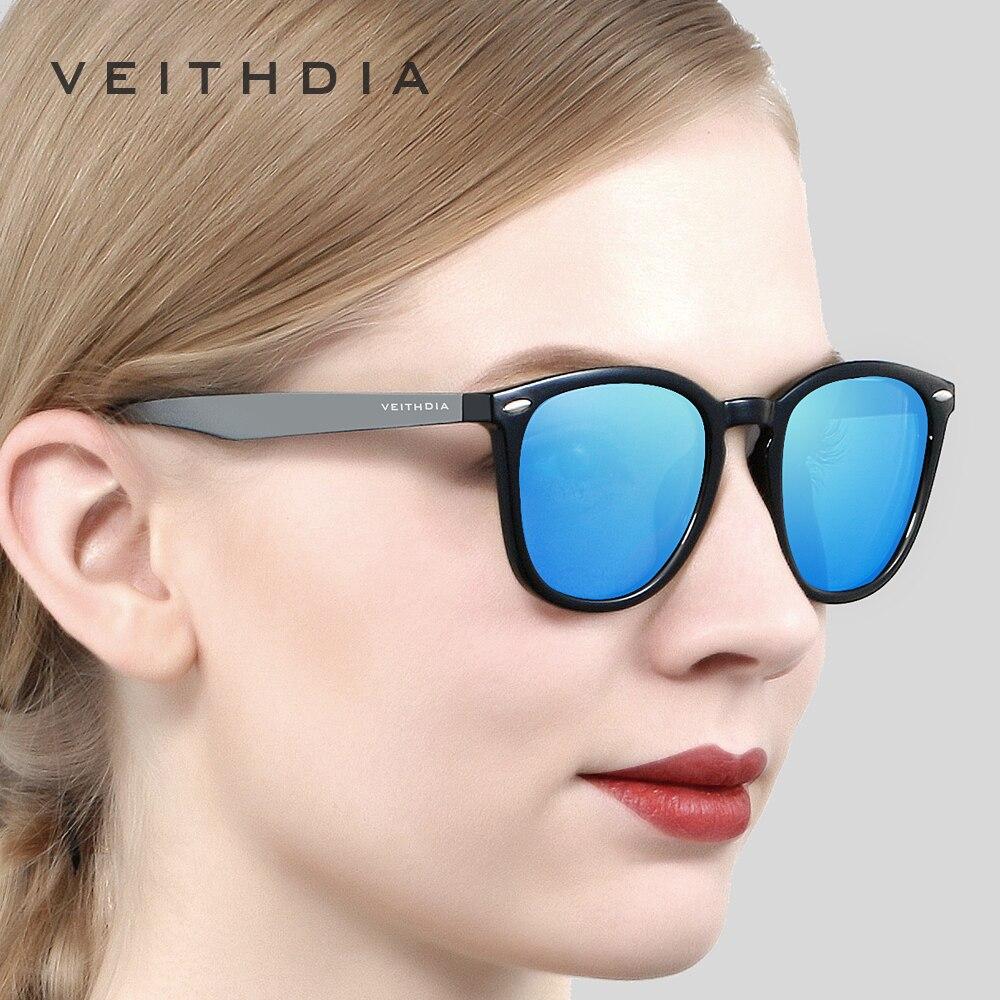 VEITHDIA Brand Unisex Aluminum+TR90 Men's Photochromic Mirror Sun Glasses Eyewear Accessories Sunglasses For Women 6116 6