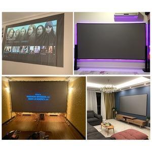 Image 5 - Proiettore schermo semplice anti luce per tende 60 72 84 100 120 pollici proiezione 3D portatile per ufficio esterno a casa