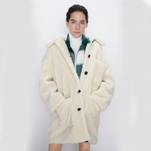 ZA Woolen Coat Fashion 2019 Loose Wool Coat Fashion Winter New England Elegant Women Clothes Casual Loose Coat Party Gift Top(China)
