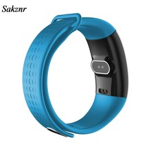 SAKZNR Bluetooth Smart Watch Wristband Bracelet Pedometer Monitor Blood Pressure Blood Heart Rate Fitness Health(China)