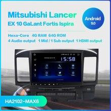 10.2 Android 9.0 Car Radio DSP Touch Screen for Mitsubishi Lancer 10 EVO 1 Din 64G ROM 4G RAM Car Bluetooth android 8 1 ram 4gb rom 32gb no dvd car gps navigation nead unit for mitsubishi lancer lancer x galant fortis 2007 2017 evo 10