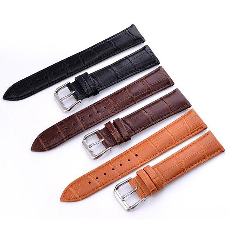 12 14 16 18 20 22mm pulseira de relógio genuíno pulseira de relógio acessórios de couro correia de relógio pulseiras de alta qualidade