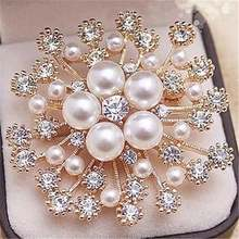Модные ювелирные изделия цветок броши Изысканный Большой Снежинка