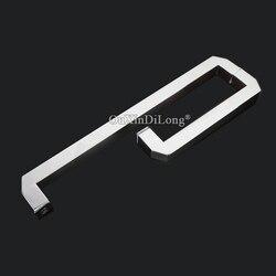 25*25mm szklane klamki do drzwi przesuwnych ze stali nierdzewnej L kształt szklany uchwyt do drzwiczek/uchwytów  uchwyt do szkła chromowany