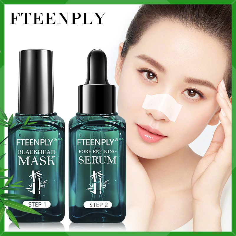 Blackhead Removal Face Serum Facial Black Mask Acne Treatment FTEENPLY Skin Care Bamboo Shrinks Pores Essence Peeling Off Sheet