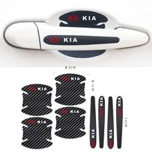 Стайлинг автомобиля, защитная пленка из углеродного волокна для дверных ручек автомобиля, Наклейка для KIA Sid Rio Soul Sportage Ceed Sorento Cerato K2 K3 K4 K5