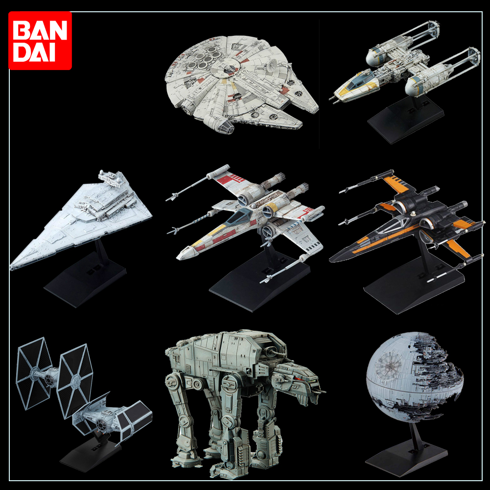 Banbai Star Wars 9 Galactic Empire Star Destroyer X-Wing Starfighter Executor AT-AT Assembly Assembling Model Collection Toys
