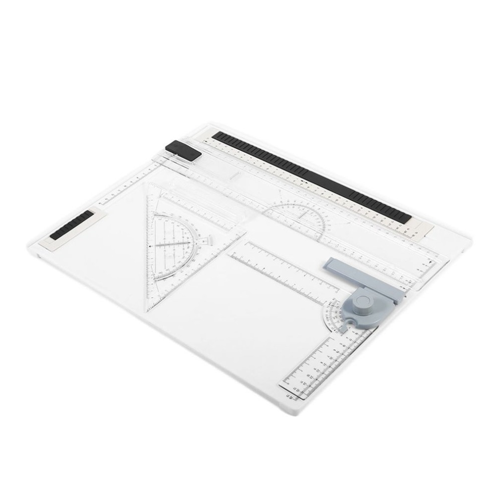 A4 Drawing Board 38*30cm Rapid Long Straight Drawing Board Office Graphic Designs Work Drafting With  Carrying Protective Bag