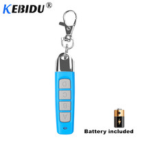 KEBIDU 433MHZ Garage Gate Door Remote Control Auto Pair Copy Remote Garage Door Opener Remote Control Duplicator 4 Key Buttons