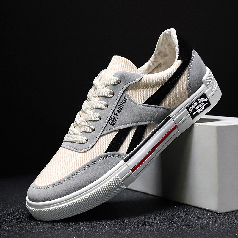 39-44 Sneakers Mens Canvas Shoes Men Sports Shoes New Arrival Fashion Comfortable Flat Shoes Trainer Fitness Skateboarding Shoes
