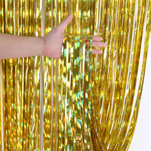 4m 3m Laser Foil Tinsel Fringe Curtain Wedding Photobooth Backdrop Stand Birthday Party Decorations Adult DIY Casamento Drapes