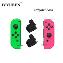 IVYUEEN-hebilla de cierre negro Original para Nintendo Switch NS, NX, JoyCon, piezas de repuesto, accesorios de juego para Joy Con, 1 par