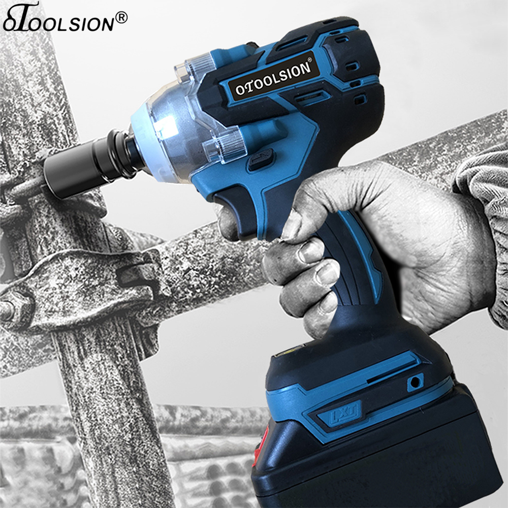 21V Brushless <font><b>Cordless</b></font> Wrench <font><b>Electric</b></font> Wrench <font><b>Electric</b></font> Tools Brushless <font><b>Impact</b></font> Wrench <font><b>Screwdriver</b></font> <font><b>Drill</b></font> For Truck Car/SUV Wheel image