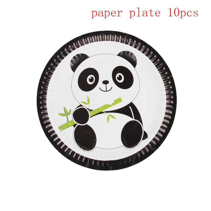 10 ชิ้น/แพ็คการ์ตูน Panda Theme party กระดาษเด็ก happy birthday party decor ทารกฝักบัวปาร์ตี้ซัพพลายเค้กจาน