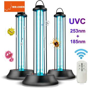 Remote 99% Sterilized Germicidal Lamp UVC 185+253nm Ozone Ultraviolet Sterilization Disinfection Purified Air Kill Mites Mosquit