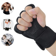 Gym Wrist Band Crossfit Gloves Fitness Men Women Half Finger Workout Sports Equipment Weight Lifting Bodybuilding Hand Protector(China)