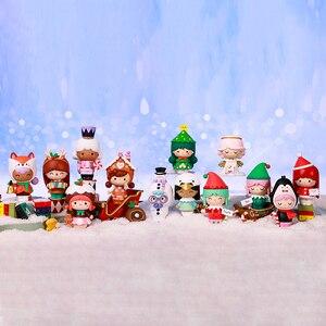 POP MART Whole Box Momiji Christmas 2020 Series Blind Box Cute Kawaii Vinyle Toy Action Figures Free Shipping