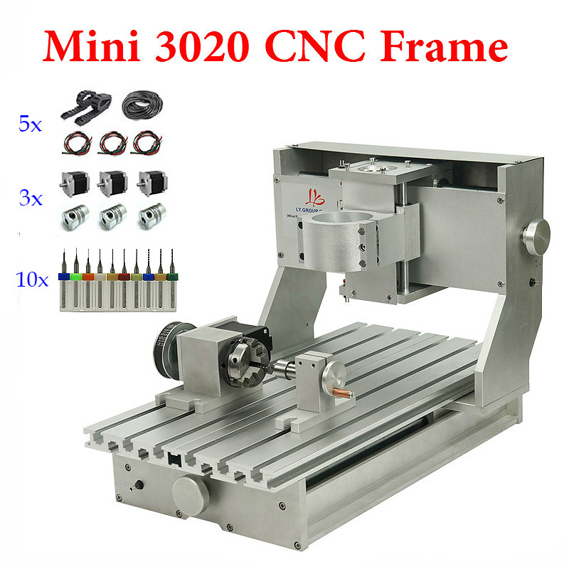 CNC Router Frame Mini 3020 Precision Of Milling Machine Diy Lather Bed Aluminum Rail With Ball Screw