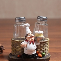 귀여운 요리사 고추 병 장식품 홈 인테리어 액세서리 공예품 미니어처 매뉴얼 주방 장식 수지 공예