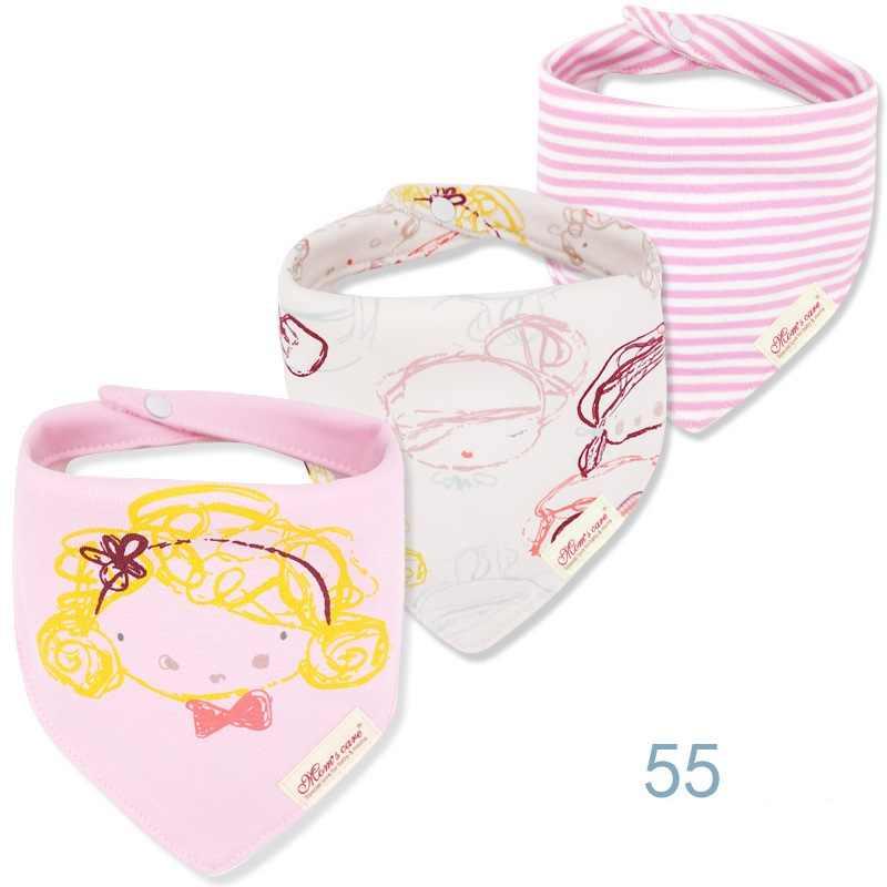3 قطعة لكل مجموعة الطفل المرايل باندانا مجموعة القطن متعدد نمط مثلث الكرتون بابادوريس الفقرة بيبي الرضع بنين بنات منشفة لعاب الأطفال KF025