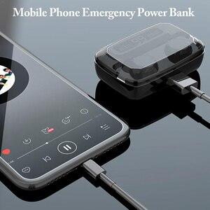 Image 5 - TWS 블루투스 5.0 헤드폰 무선 이어폰 터치 컨트롤 방수 9D 스테레오 스포츠 게임 헤드셋 마이크와 LED 디스플레이
